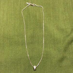 Simple and beautiful Swarovski silvertone necklace